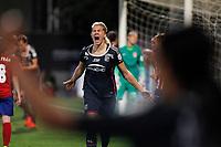 Olympique Lyonnais´s Hegerberg celebrates a goal (0-2) during UEFA Women´s Champions League soccer match between Atletico de Madrid and Olympique Lyonnais, in Madrid, Spain. November 11, 2015. (ALTERPHOTOS/Victor Blanco)