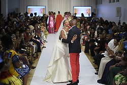 August 19, 2017 - Toronto, Ontario, Canada - Adebayo Jones thanking the crowd during the African Fashion Week in Toronto, Canada on 19 August 2017. (Credit Image: © Arindam Shivaani/NurPhoto via ZUMA Press)