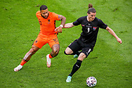 Memphis Depay of the Netherlands, Marcel Sabitzer of Austria during the UEFA Euro 2020, Group C football match between Netherlands and Austria on June 17, 2021 at the Johan Cruijff ArenA in Amsterdam, Netherlands - Photo Marcel ter Bals / Orange Pictures / ProSportsImages / DPPI