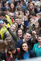T in the Park Roadshow with The View at the first performance at the top of Buchanan Street..© Michael Schofield..