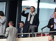 Manchester City's former manager Roberto Mancini looks on during the FA Cup Semi Final match at Wembley Stadium, London. Picture date: April 23rd, 2017. Pic credit should read: David Klein/Sportimage