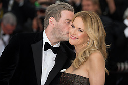 File photo - John Travolta and Kelly Preston arriving on the red carpet of 'Solo A Star Wars story' screening held at the Palais Des Festivals in Cannes, France on May 15, 2018 as part of the 71st Cannes Film Festival. Kelly Preston, the actress married to John Travolta, has died after a private battle with breast cancer, aged 57. The actress had been battling against breast cancer for two years, with a family representative confirming news of her passing to People today. Photo by Nicolas Genin/ABACAPRESS.COM