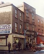 old dublin street photos December 1983 DUBLIN BAZAAR THOMAS ST Old amateur photos of Dublin streets churches, cars, lanes, roads, shops schools, hospitals
