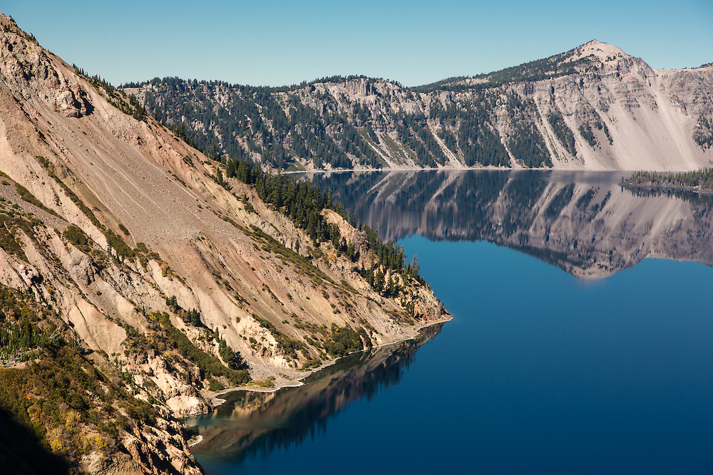 Crater Lake National Park  Oct 05, 2014 by Mick Orlosky / Redfishingboat