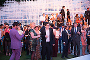 MARK WALLINGER, The Serpentine Summer Party 2013 hosted by Julia Peyton-Jones and L'Wren Scott.  Pavion designed by Japanese architect Sou Fujimoto. Serpentine Gallery. 26 June 2013. ,