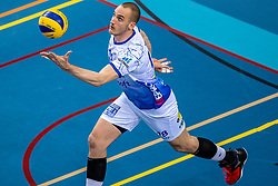 Dennis Borst of Lycurgus in action during the last final league match between Draisma Dynamo vs. Amysoft Lycurgus on April 25, 2021 in Apeldoorn.