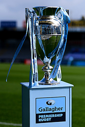 The Gallagher Premiership Trophy prior to kick off at Sandy Park - Mandatory by-line: Ryan Hiscott/JMP - 10/10/2020 - RUGBY - Sandy Park - Exeter, England - Exeter Chiefs v Bath Rugby - Gallagher Premiership Rugby Semi-Final
