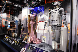 Outfits from the comedy musical THE WIZ adapted fromThe Wizard of Oz are on display in the Smithsonian National Museum of African American History and Culture on September 21, 2016 in Washington, DC.The National Museum of African American History and Culture will open on Sept. 24 in Washington thirteen years since Congress and President George W. Bush authorized its construction, the 400,000-square-foot building stands on a five-acre site on the National Mall, close to the Washington Monument. President Obama will speak at its opening dedication.Photo by Olivier Douliery/Abaca