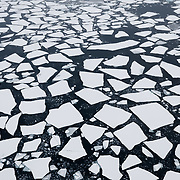 Broken ice in the Beaufort Sea. Arctic Ocean