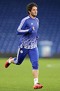 Alexandre Pato of Chelsea during post match warm down.The Emirates FA Cup, 5th round match, Chelsea v Manchester city at Stamford Bridge in London on Sunday 21st Feb 2016.<br /> pic by John Patrick Fletcher, Andrew Orchard sports photography.