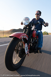 Motorcycle Cannonball coast to coast vintage run. Rest day in Sturgis, SD. Monday September 17, 2018. Photography ©2018 Michael Lichter.