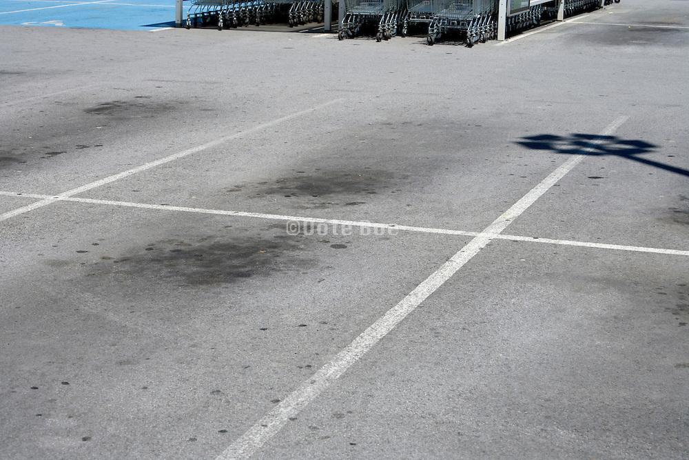 parking lot at a supermarket