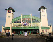 Wellington Bowl seaside pier attraction at Great Yarmouth, Norfolk, England