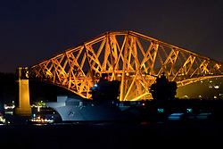 HMS Queen Elizabeth sails under the Forth Rail Bridge, River Forth, 26/06/2017<br /> <br /> <br /> <br /> (c)Craig Brown| Edinburgh Elite media