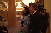 Nigella Lawson and Jamie Oliver. The British Book Awards. Hilton, London. 22 February 2001. © Copyright Photograph by Dafydd Jones 66 Stockwell Park Rd. London SW9 0DA Tel 020 7733 0108 www.dafjones.com