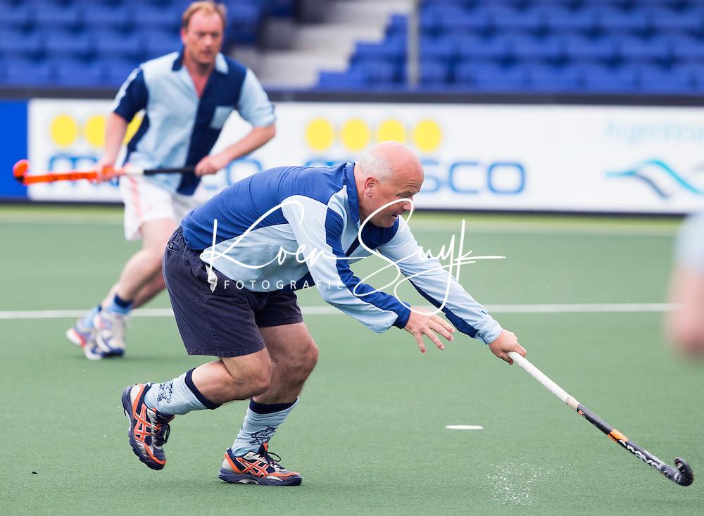 DEN HAAG - Marc Delissen. Tijdens het WK hockey speelt het team dat in 1998 in Utrecht wereldkampioen werd,  tegen het oude nationale team van Spanje. Veel oud internationals zijn van de partij. COPYRIGHT KOEN SUYK