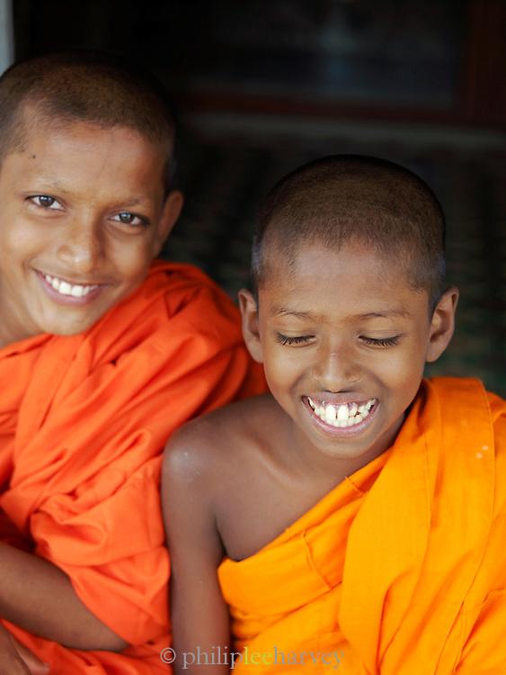 Young buddhist monks at the Mulkirigala Monastery, Sri Lanka