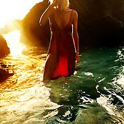 Elena at the beach in La Reunion, France