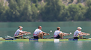 Aiguebelette, FRANCE.   GBR M4- Gold Medallist left  to right,  Alex GREGORY, Mo SBIHI, George NASH and Andy TRIGGS HODGE.   2014 FISA World Cup II, 12:08:49  Sunday  22/06/2014. [Mandatory Credit; Peter Spurrier/Intersport-images]
