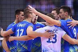 Team of Slovenia during the CEV Volleyball European Championship game Poland - Slovenia on August 30, 2017 in Krakow, Poland. (Photo by Krzysztof Porebski / Press Focus)