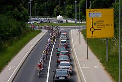Peloton in Novo mesto at 4th stage of Tour de Slovenie 2009 from Sentjernej to Novo mesto, 153 km, on June 21 2009, Slovenia. (Photo by Vid Ponikvar / Sportida)