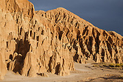 Million-year-old lake sediments have eroded into fantastic mud castles at Cathedral Gorge State Park, Panaca, Nevada, USA.