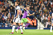 Bristol City defender Lloyd Kelly (17) scores a goal and celebrates  3-1 during the EFL Sky Bet Championship match between West Bromwich Albion and Bristol City at The Hawthorns, West Bromwich, England on 18 September 2018.