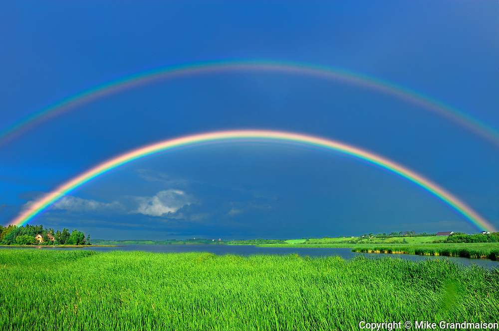 Double rainbow after storm<br />St. Gedeon<br />Quebec<br />Canada