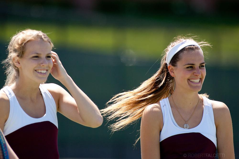 Taft School-April 2013- Taft Varsity Girls Tennis. (Photo by Robert Falcetti)