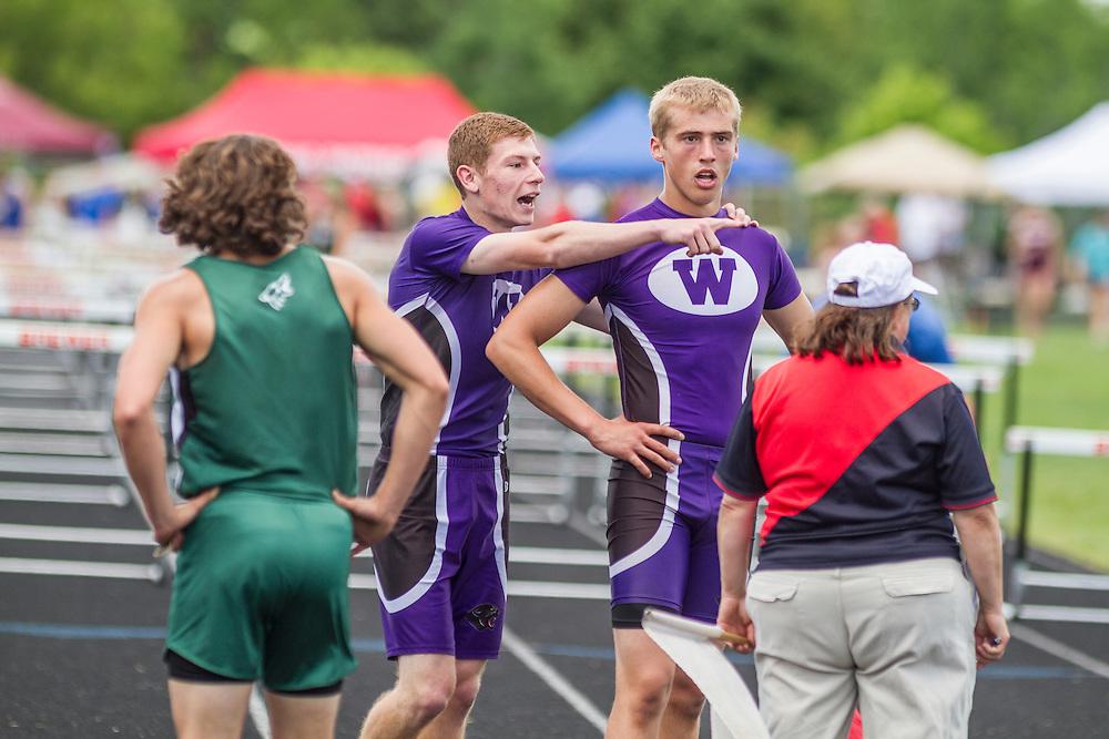 Maine State Track & Field Meet, Class B: boys high hurdles, Jordhan Levine, Troy Gurski, Waterville