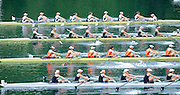 Lucerne, SWITZERLAND. GBR W8- Start of the Women's eights heat top to bottom GBR W8+, .AUS W8+,  CHAN W8+ and NZL W8+, move away from the start ,at the 2008 FISA World Cup Regatta, Round 2.  Lake Rotsee, on Thursday,  30/05/2008.  [Mandatory Credit:  Peter Spurrier/Intersport Images].Lucerne International Regatta. Rowing Course, Lake Rottsee, Lucerne, SWITZERLAND.