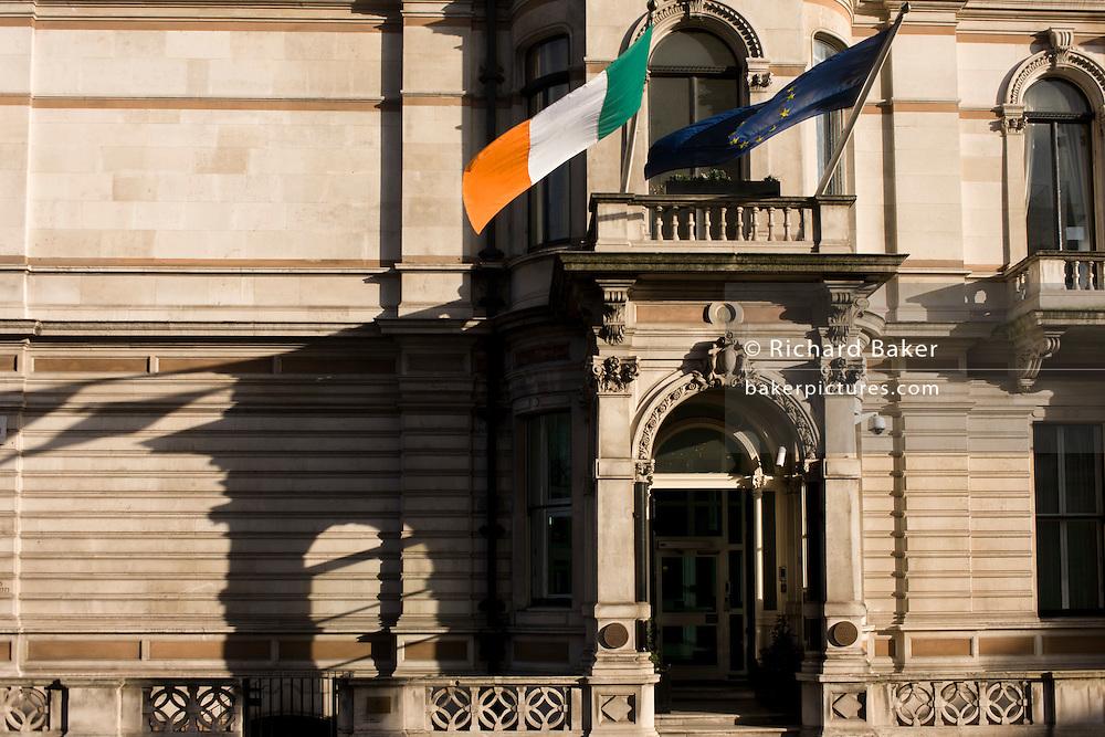 Exterior of the Irish Embassy at 17 Grosvenor Place, London SW1.
