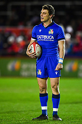 Paolo Garbisi of Italy<br /> <br /> Photographer Craig Thomas/Replay Images<br /> <br /> U20 Six Nations - Wales v Italy  - Friday 31st January 2020 - Stadiwm Zip World (Parc Eirias) - Colwyn Bay<br /> <br /> World Copyright © Replay Images . All rights reserved. info@replayimages.co.uk - http://replayimages.co.uk