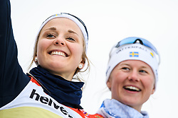 February 24, 2019 - Seefeld In Tirol, AUSTRIA - 190224 Stina Nilsson and Maja Dahlqvist of Sweden  at the podium after womenÃ•s team sprint final during the FIS Nordic World Ski Championships on February 24, 2019 in Seefeld in Tirol..Photo: Vegard Wivestad GrÂ¿tt / BILDBYRN / kod VG / 170295 (Credit Image: © Vegard Wivestad Gr¯Tt/Bildbyran via ZUMA Press)