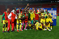 PORT ELIZABETH, SOUTH AFRICA - FEBRUARY 09, wining team Mali shows off their third place medals during the 2013 Orange African Cup of Nations 3rd and 4th Play-Off match between Mali and Ghana from Nelson Mandela Bay Stadium on February 09, 2013 in Port Elizabeth, South Africa<br /> Photo by Richard Huggard / Gallo Images