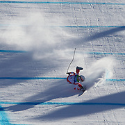 Winter Olympics, Vancouver, 2010.Dominique Gisin, Switzerland, crashing out of  the Alpine Skiing Ladies downhill at Whistler Creekside, Whistler, during the Vancouver  Winter Olympics. 17th February 2010. Photo Tim Clayton