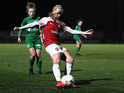 February 20, 2019 - Borehamwood, Hertfordshire, United Kingdom - Beth Mead of Arsenal scores the 2nd goal of the game  during the FA Women's Super League football match between Arsenal Women and Yeovil Town L.F.C.at Meadow Park on February 20, 2019 in Borehamwood, England. (Credit Image: © Action Foto Sport/NurPhoto via ZUMA Press)