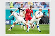 Winning goal by Aleksei Miranchuk. Finland - Russia. Euro 2020. Saint Petersburg, Russia. June 16, 2021.