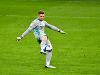 Football - 2020 / 2021 Sky Bet Championship - Swansea City vs Cardiff City - Liberty Stadium<br /> <br /> Freddie Woodman Swansea City clears the ball in the South Wales local derby match<br /> <br /> COLORSPORT/WINSTON BYNORTH