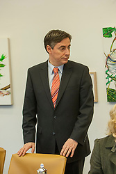 The half-Scottish Prime Minister David McAllister of Lower Saxony, at that day's cabinet meeting..©Michael Schofield.