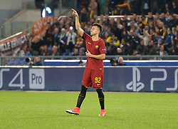 October 31, 2017 - Rome, Italy - Stephan El Shaarawy celebrates after scoring goal 1-0 during the Champions League football match A.S. Roma vs Chelsea Football Club at the Olympic Stadium in Rome, on october 31, 2017. (Credit Image: © Silvia Lore/NurPhoto via ZUMA Press)