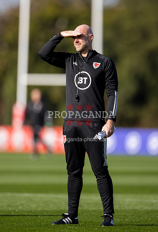 CARDIFF, WALES - Wednesday, October 7, 2020: Wales' assistant coach Robert Page during a training session at the Vale Resort ahead of the International Friendly match against England. (Pic by David Rawcliffe/Propaganda)