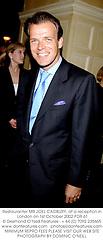 Restauranter MR JOEL CADBURY, at a reception in London on 1st October 2002.PDR 61