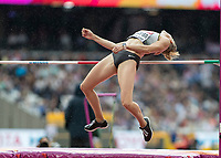 Athletics - 2017 IAAF London World Athletics Championships - Day Two (AM Session)<br /> <br /> Event: High Jump Women - Heptathlon<br /> <br /> CarolinSchafer (GER)  clears the bar <br /> <br /> COLORSPORT/DANIEL BEARHAM