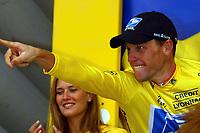 Sykkel<br /> Tour de France 2003<br /> Foto: Digitalsport<br /> <br /> NORWAY ONLY<br /> <br /> CYCLING - TOUR DE FRANCE 2003 - STEP15 - BAGNERES-DE-BIGORRE > LUZ-ARDIDEN - 21072003 - PHOTO: ERIC LALMAND / PHOTO NEWS / DPPI<br /> LANCE ARMSTRONG (USA) / US POSTAL