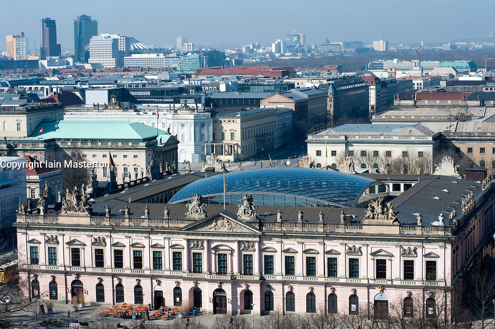 View from above of the German History Museum and Berlin skyline in Mitte Berlin 2009