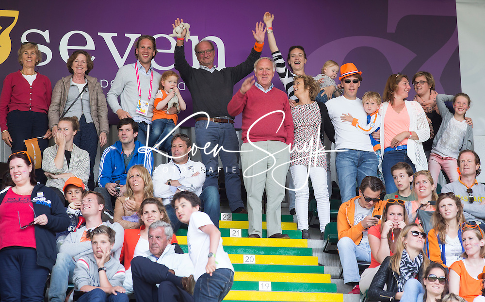 DEN HAAG - Familie Elffers. WORLD CUP Hockey 2014.  COPYRIGHT  KOEN SUYK