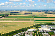 Nederland, Noord-Holland, Hoofddorp, 01-08-2016; Polderbaan Schiphol gezien vanuit  Hoofddorp.<br /> Schiphol Polderbaan runway.<br /> luchtfoto (toeslag op standard tarieven);<br /> aerial photo (additional fee required);<br /> copyright foto/photo Siebe Swart