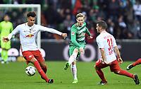 v.l. Davie Selke, Florian Kainz (Bremen), Diego Demme<br /> Bremen, 18.03.2017, Fussball, Bundesliga, SV Werder Bremen - RB Leipzig 3:0<br /> <br /> Norway only