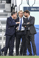 October 2, 2018 - Turin, Italy - Juventus president Andrea Agnelli Juventus vice president Pavel Nedved and Fabio Paratici during the Uefa Champions League Group Stage football match n.2 JUVENTUS - YOUNG BOYS on 02/10/2018 at the Allianz Stadium in Turin, Italy. (Credit Image: © Matteo Bottanelli/NurPhoto/ZUMA Press)